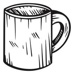 Coffee mug hand drawn