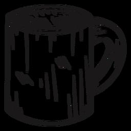 Taza de café dibujada a mano