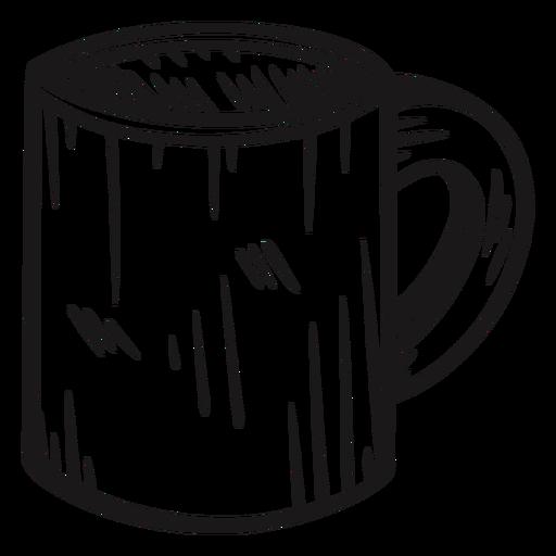 Coffee mug hand drawn