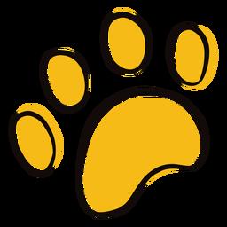 Doodle de impressão de pata de animal colorido