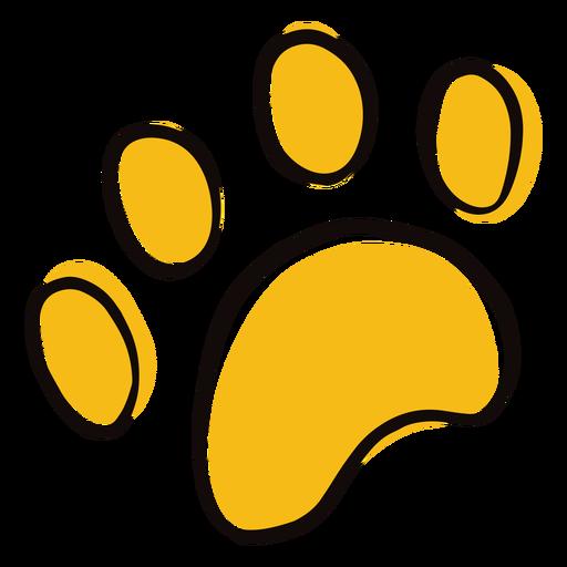 Doodle de impresión de pata de animal color Transparent PNG