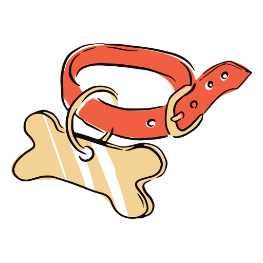 Colored dog collar doodle