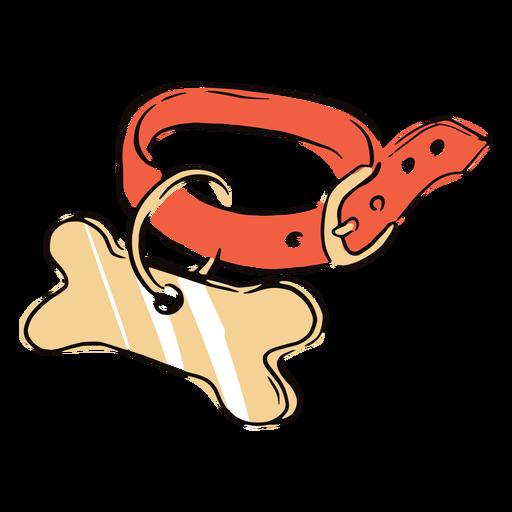 Doodle de collar de perro de color