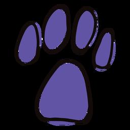 Doodle de impresión de pata color