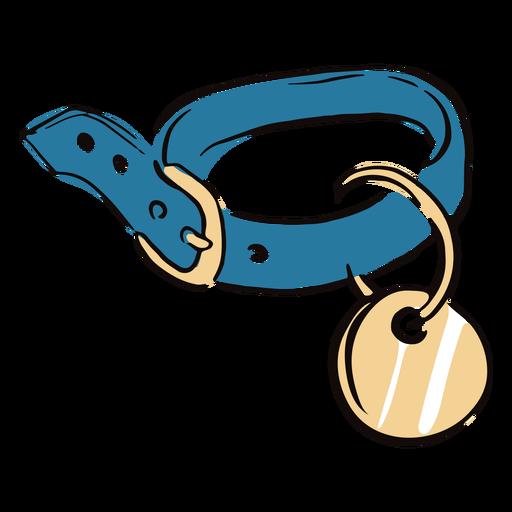 Colored pet collar doodle