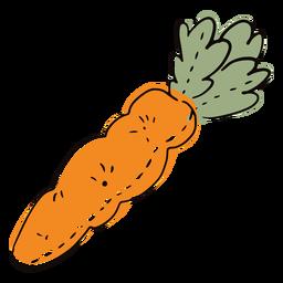Doodle de cenoura de pano colorido
