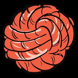 Doodle de bola de cuerda color
