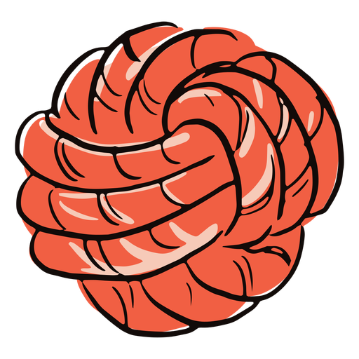 Colored rope ball doodle