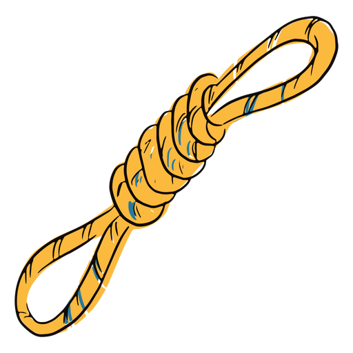 Colored tied rope doodle