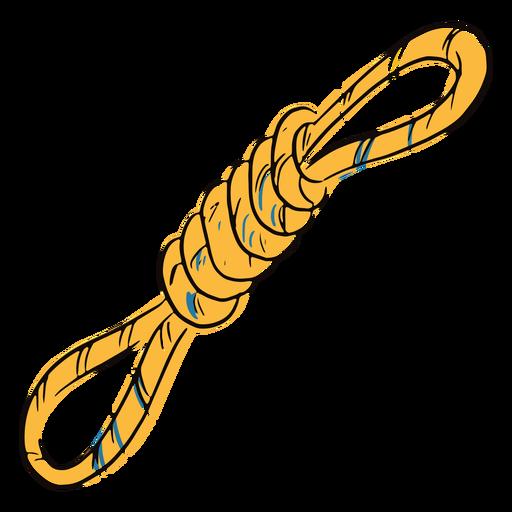 Doodle de cuerda atada de color