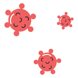 Covid 19 virus spore illustration