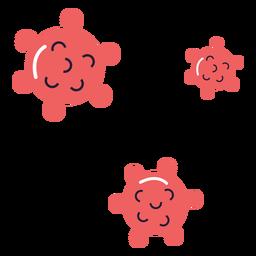 Ilustración de esporas del virus Covid 19
