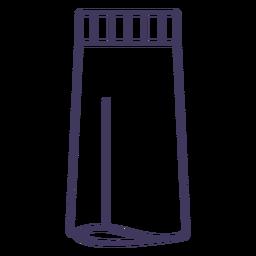 Icono de contenedor de crema