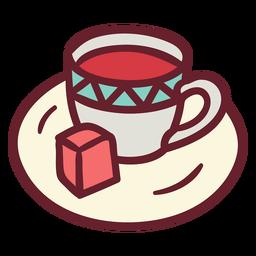 Taza de café plano