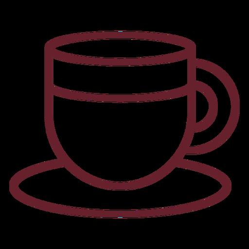 Taza de trazo de café