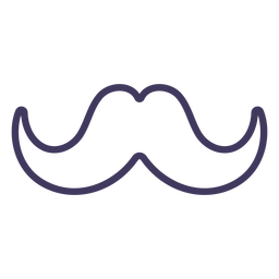 Curvy moustache icon