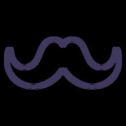 Icono de bigote con curvas