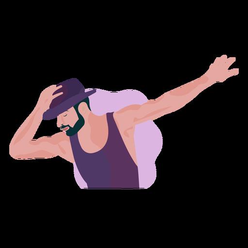 Dançarino com ilustração de chapéu