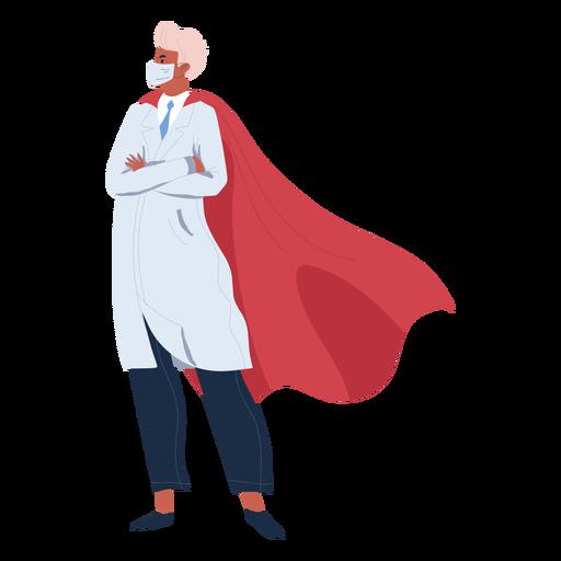 Doctor héroe con carácter de capa