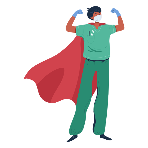 Doctor with cape character Transparent PNG