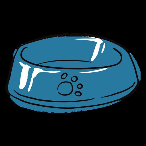 Dog bowl colored doodle