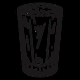 Vaso dibujado a mano