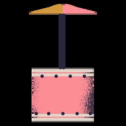 Tambor com ilustração de pratos