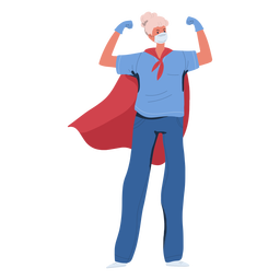 Elderly nurse heroine character