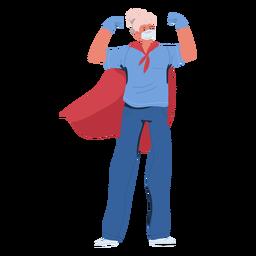 Heldin der älteren Krankenschwester