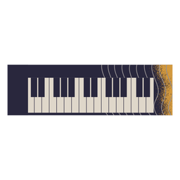 Ilustração de instrumento de piano elétrico