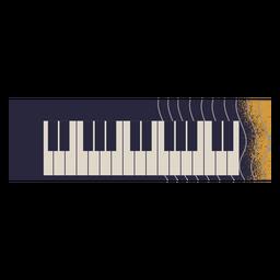 Ilustración de instrumento de piano eléctrico