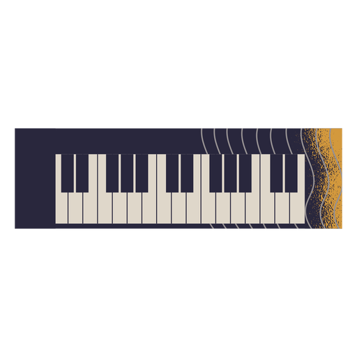 Electric piano instrument illustration