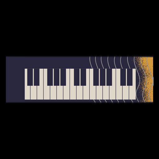 Ilustraci?n de instrumento de piano el?ctrico