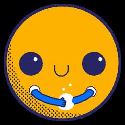 Emoji lavarse las manos planas