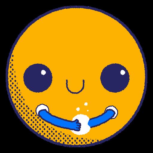 Emoji washing hands flat