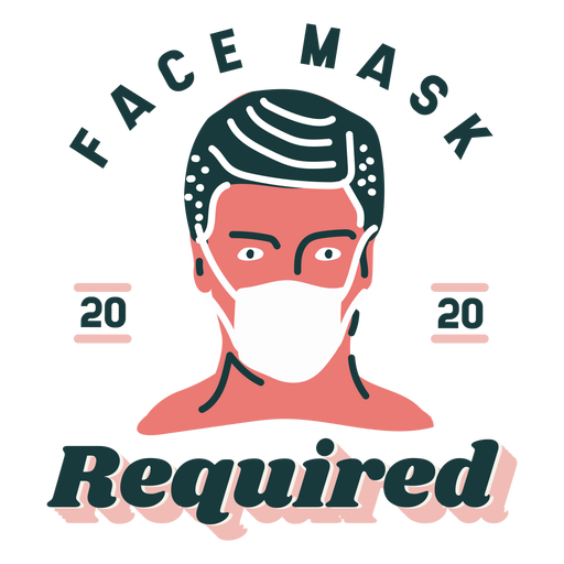 Face mask required lettering