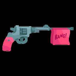 Fake revolver illustration