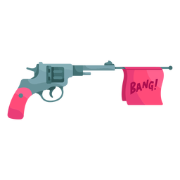 Ilustración de revólver falso
