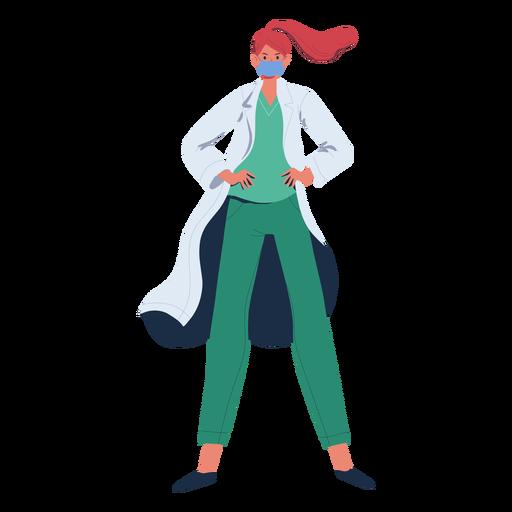 Personaje de heroína de jengibre doctor