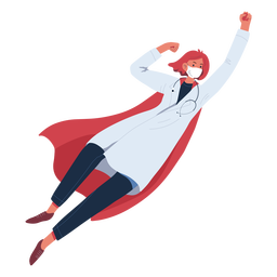 Ginger doctor heroine flying character