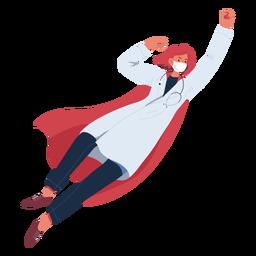 Personaje volador de jengibre doctor heroína