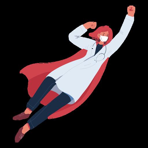 Ginger doctor heroine flying character