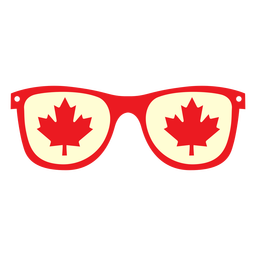 Glasses with maple leaf flat