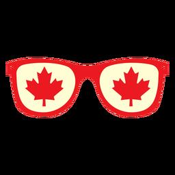 Óculos com folha de bordo plana