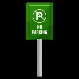 Verde sem placa de estacionamento plana