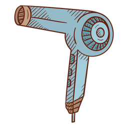 Hair dryer illustration