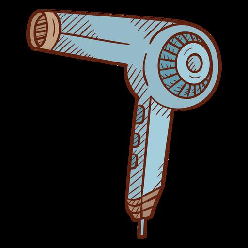Hair dryer illustration