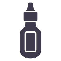 Hair ink container silhouette