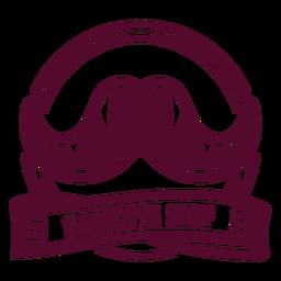 Insignia de bigote tienda de corte de pelo