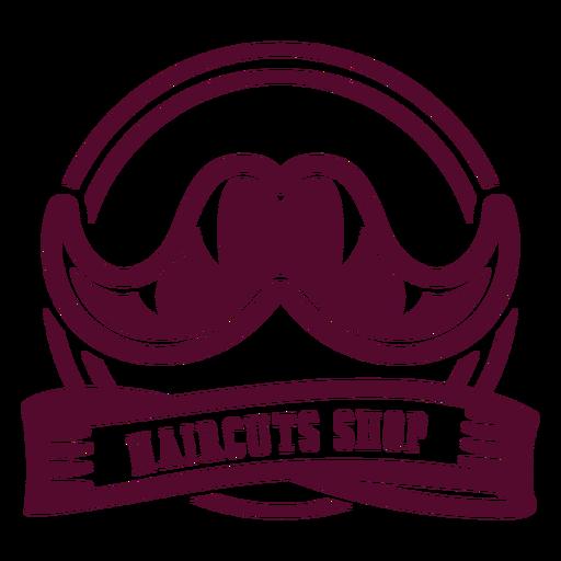 Haircut shop moustache badge